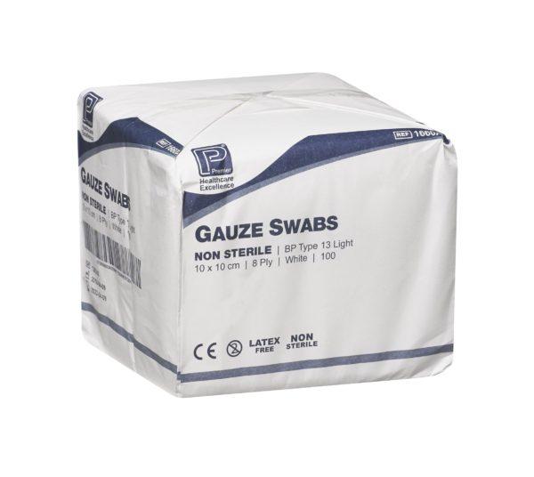 Gauze swabs e1631717912120 cotton gauze swab bp 8 ply (x100)